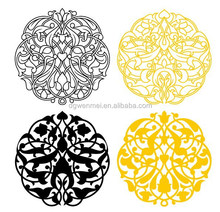 current high quality gold foil circles metallic temporary tattoos