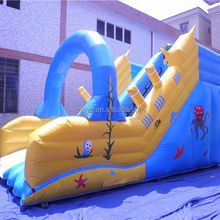 inflatable slide and slip , NO.1257 inflatable slide fun city for sale