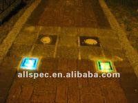 sidewalk decoration solar power LED brick solar garden lighting energy saving LED brick