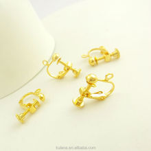 14mm Non-pierced Screw Back Earring Clips with 3mm Flat Back High Quality Clip on Earring