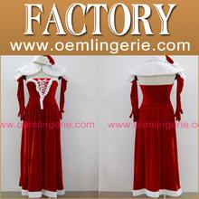 nueva llegada de la manera mujeres peludas de Navidad vestido