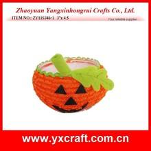 Halloween decoration (ZY11S346-1 3''x 4.5'') pumpkin Halloween basket craft