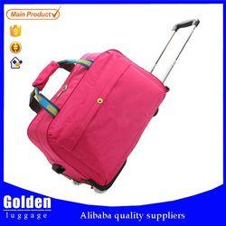 Customize designer leisure travel bag rolling garment trolley duffel bag for short time trip