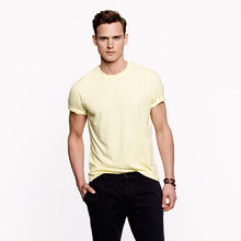 Men's casual cotton plain T-shirt