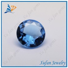 Top quality synthetic blue round glass stone