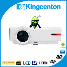 Android DualCore Wifi 4500lumens full hd 3d led projector home theater projector HD1080P TV Video mobile phone projector android