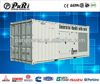 800kw ce approved water-cooled containerized soundproof diesel generator/ super silent diesel gen-set