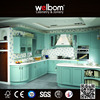 Home Furniture Timber Veneer Blue Kitchen