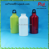 Screen printing aluminum bottle, empty sport water bottle, 250ml, 500ml screw cap sealing type aluminum bottle