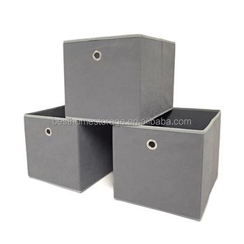 Canvas Eyelet Storage Cube