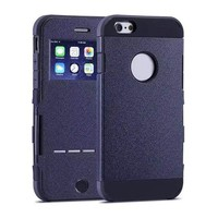 Hybrid Case for iPhone 6 Plus with Caller ID Display Window and Wake-up / Sleep Function
