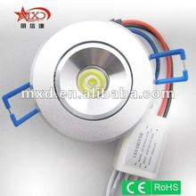 high power recessed led down light 1w for home lighting