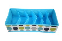 6-Cells Foldable Drawer Dividers, Storage Boxes, Closet Organizers, Under Bed Organizer, for Clothing, Shoes, Underwear, Bra, So