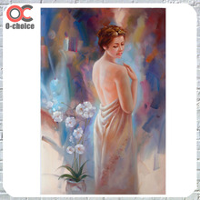 Hand made high quality sexy nude woman oil painting