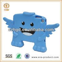 For iPad Mini Soft Cover / Soft EVA Shakeproof Frame Kids Back Case Protective Skin Cover for Mini iPad