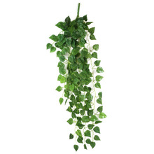 1pcs Green Fake Hanging Vine Plant Leaves Garland Wall Decoration Great for Wedding Home and Festival