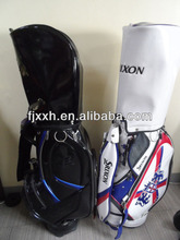 outdoor leisure custom made leather PU golf staff bag unique golf bag with wheel