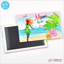 Hot selling tinplate custom country fridge magnets souvenir cities fridge magnet
