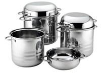 SZB-74 6 pcs S.S. cost-effecitive soup pot with frying pan cover/korean cookware set/saucepan set