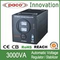 3Kva Regulado de Fuente de Voltaje Constante Automático/ 3000 Vatios 220V Guardia Estabilizador de Voltaje Con Certificación CE ROHS CB