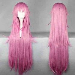 New cartoon Anime Figture Guilty Crown-Yuzuriha Inori long culy cheap hot pink wig