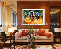 Modern abstract wall painting designs for living room