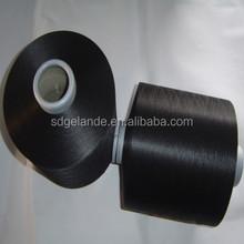 100% polyester yarn high intermingled dope dyed black full dull