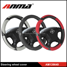 hot sell economical universal pu 38cm diameter leather sewing steering wheel cover