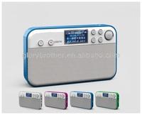 portable USB TF card digital display LCD mp3 player mini speaker with Clock alarm calendar function Support MP3 /WMA/WAV music