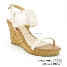 new design vamp single strap ankle lace fashion wedge women sandals shoes 2015