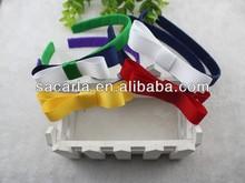 Braided grosgrain ribbon hair band