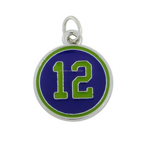 Free Shipping Alibaba Online Wholesale New Enameled Football Team Sports Player Uniform Number 12 Pendant For Fans