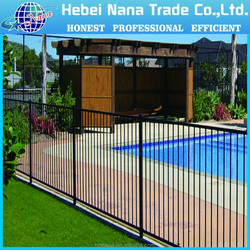 flat top aluminium fence/ Factory directly sale decorative fence for garden or home