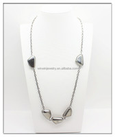 2014 hot sell new designs fashion hammer metal stone necklace