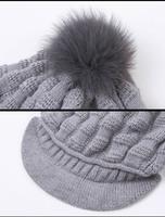 Женская шапка Big Pompom Skulies & CP15T10