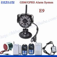 High quality gsm/gprs intelligent wireless security camera systems quadband