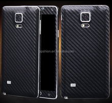 Stylish carbon fiber sticker wrap for Samsung galaxy note 4 with full body stickers