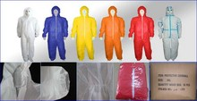 Disposable Nonwoven coverall working uniform pp pe sms microporous good protevtive hubei china