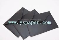 virgin golden foil 120g black envelop paper
