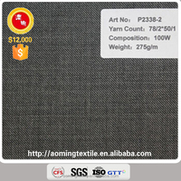 Wholesale Middle Grey 100% Wool Suit Fabric for Men and Women
