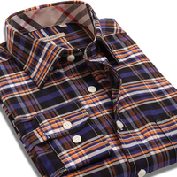 Hot Sale autumn 2015 long sleeve plaid fashion casual men shirts