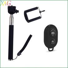 Shenzhen fashion best selling wireless bluetooth monopod carbon fiber selfie stick remote control