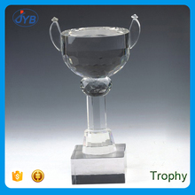 Melhor venda barato plastic troféu cup award forma de copo de cristal troféu