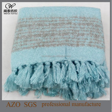 2015 Woven Fashion Acrylic Brushed Fluffy Throw Blanket