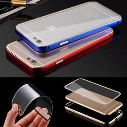 Ultra-thin Aluminum Alloy Bumper Transparent PC Case For iPhone 6 4.7 Inch