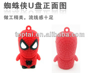 hot sale!!! character spider-man usb pen drive for gift
