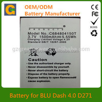 1500mah C684804150T cellphone battery for BLU Dash 4.0 D271