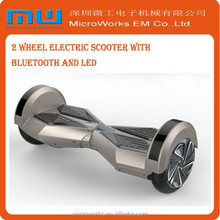 2015 free hand 2 wheel smart balance mini scooter 350w electric scooter with LED bluetooth speaker glide board hover