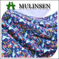 Mulinsen Textile Knitting Stretchy Polyester Spun Printed Fabric Bird Pattern
