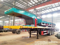 DTA truck 2/3 Axle 20/30 /40/45ft container semi trailer ,flat bed semi trailer container chassis factory sale
